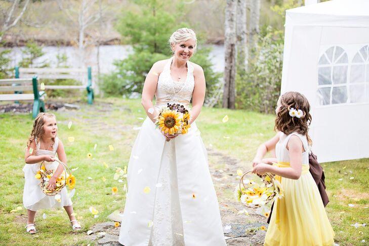 Sunflower flower girl baskets mightylinksfo