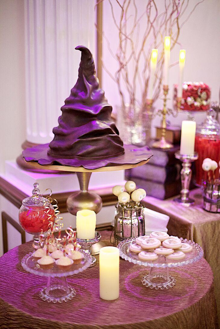 Harry Potter\'s Sorting Hat Groom\'s Cake
