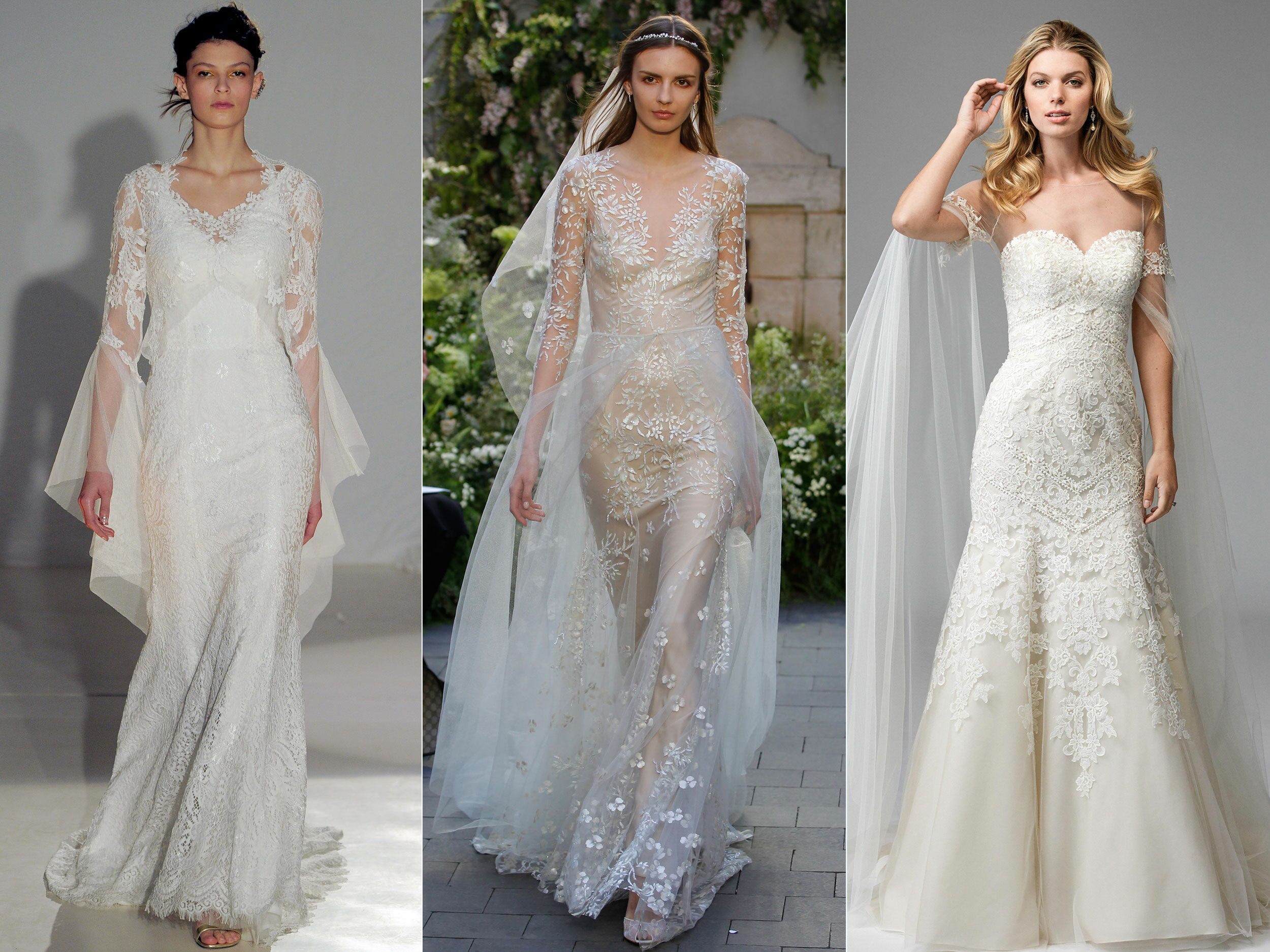 Top 2019 Wedding Dresses: Top Wedding Dress Trends From Spring 2017 Bridal Fashion