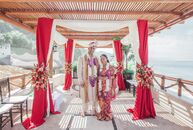 "Mariecar Frias and Jason Sharma's winter wedding in Puerto Vallarta, Mexico was a celebration of color and their Filipino and Indian heritage. ""We cho"