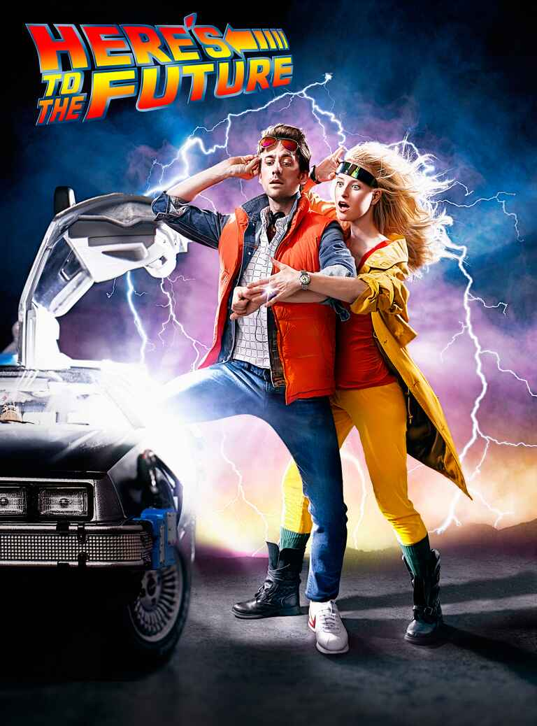 Back to the Future Engagement Photo Session