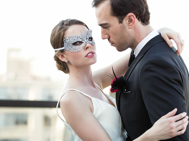 Fifty Shades Darker Themed Wedding Photos