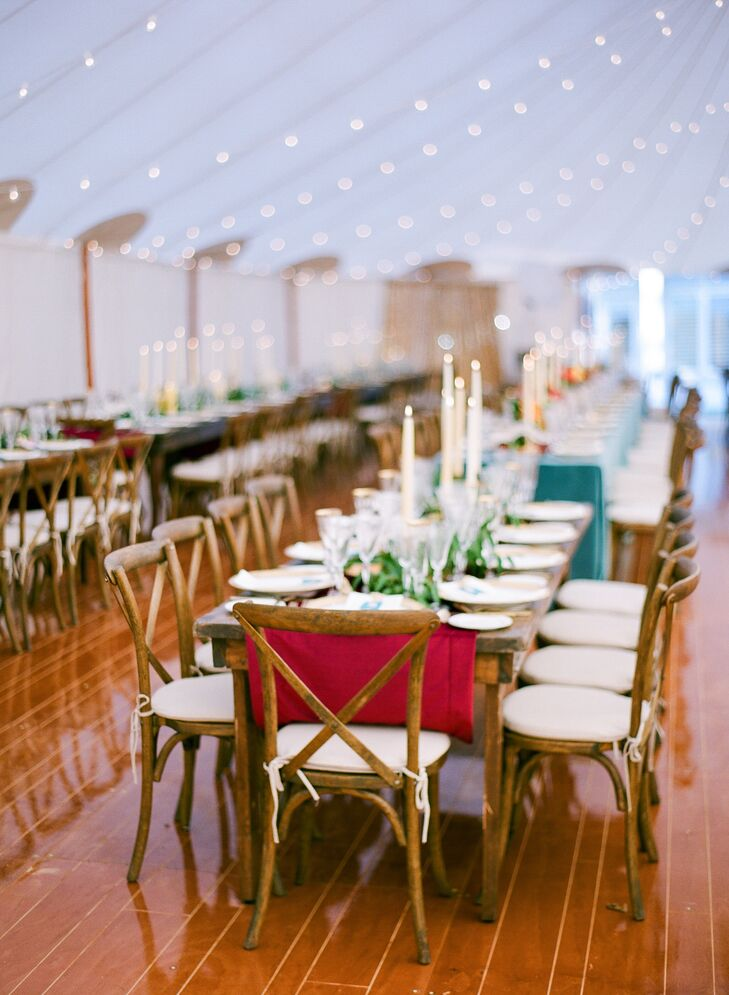 Tented Reception with Cross-Back Chairs