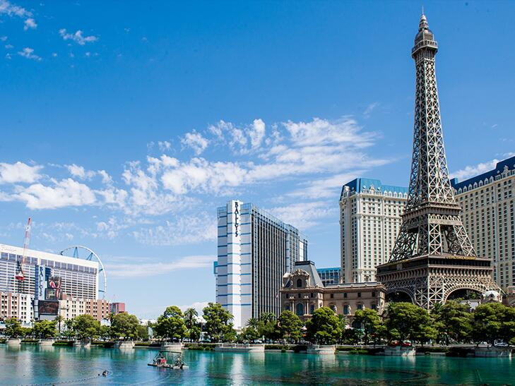 the Eiffel Tower replica at Paris Las Vegas