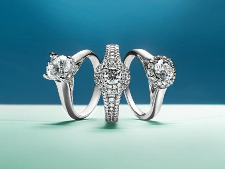 three engagement rings