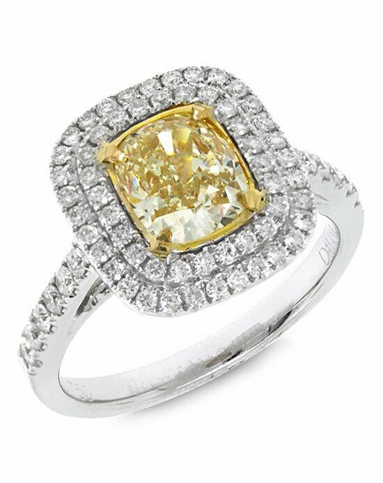 Allurez - Customized Rings Halo Cushion Cut Fancy Yellow Diamond Engagement Ring 18k Gold (2.07ct) Engagement Ring photo