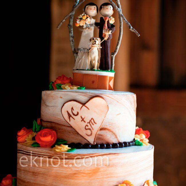 rustic couple wedding cake topper rustic cake topper 19495