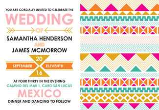 Aztec Allure stationery/Wedding Paper Divas/The Knot blog