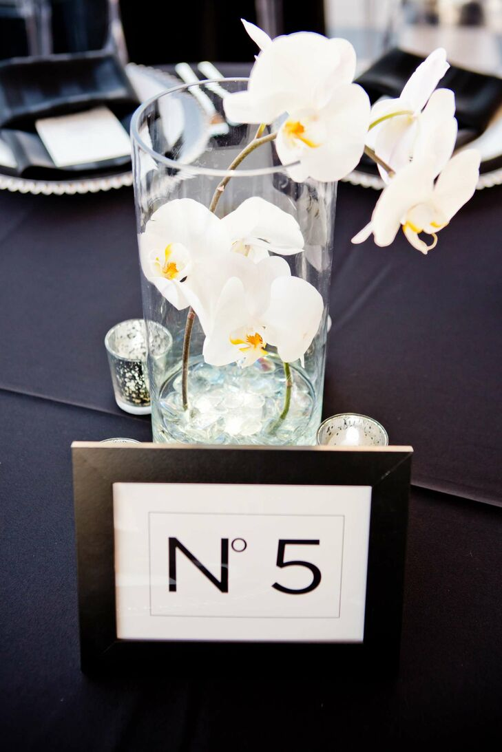 White Orchid Wedding Reception Centerpieces