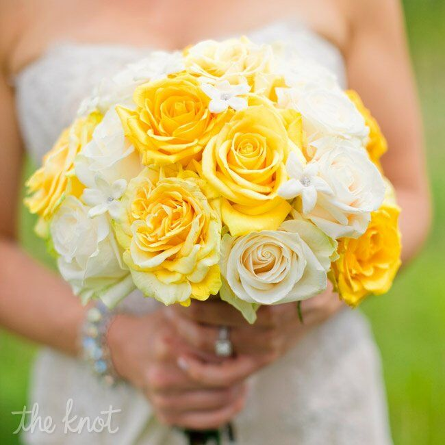 Wedding Flowers Yellow Roses: Yellow And Ivory Rose Bouquet