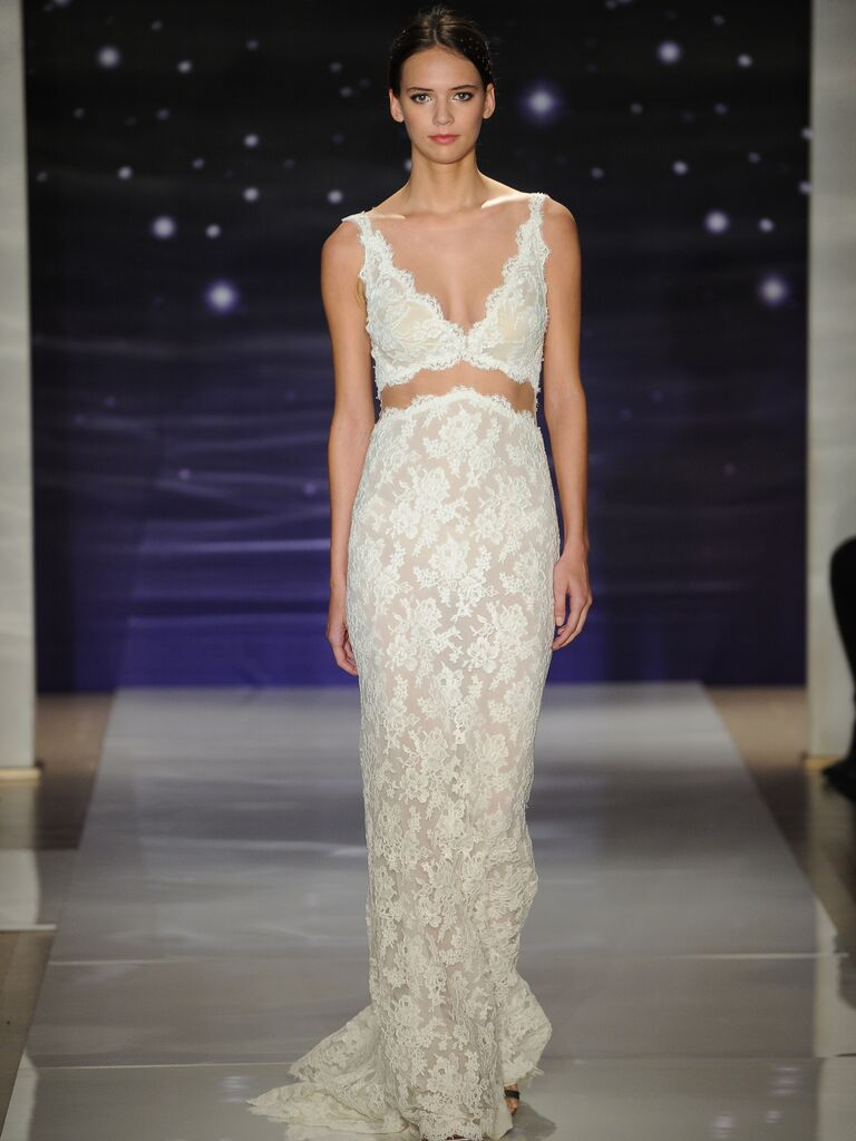 Reem Acra Lace Bralette And Skirt Wedding Dress
