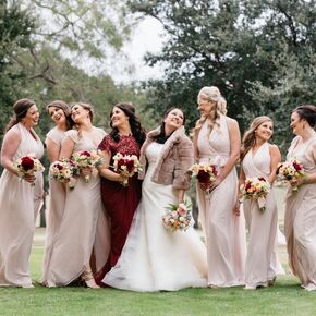 Champagne Colored Joanna August Bridesmaid Dresses