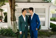 "Robert Fleming and Michael Biegel sought to plan a wedding that would surprise their guests. ""It was very important to us that we had an original or u"