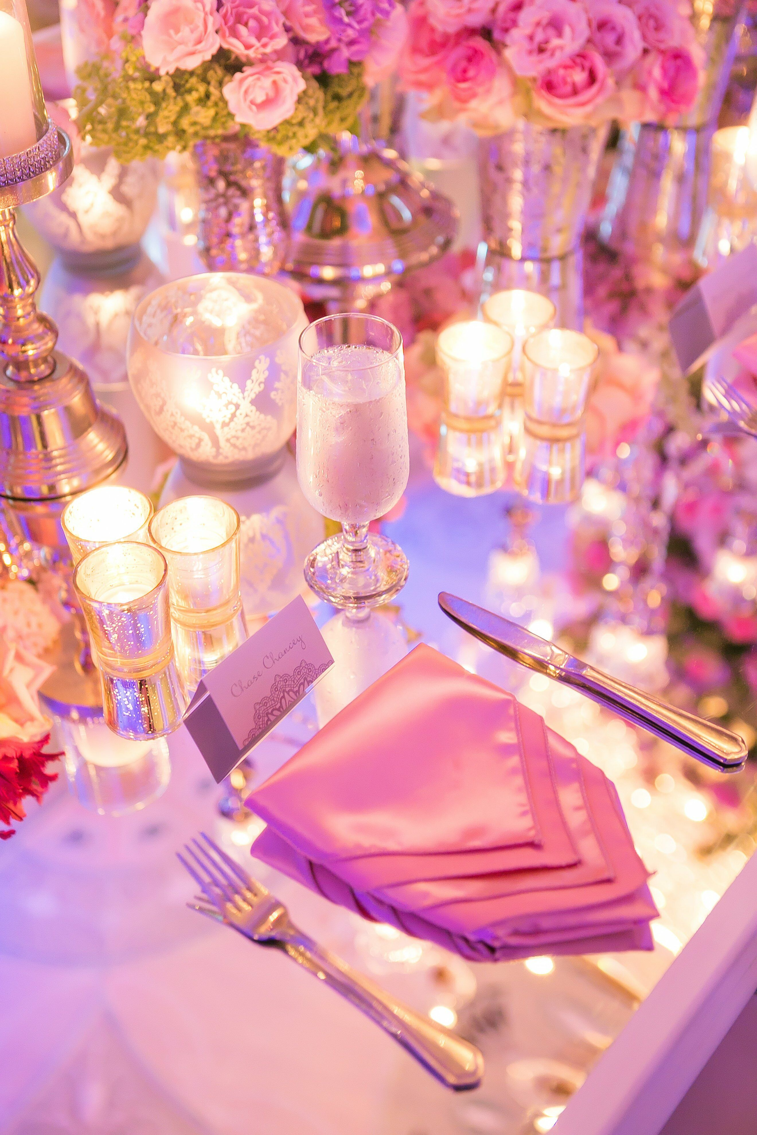 Glam Reception Place Setting