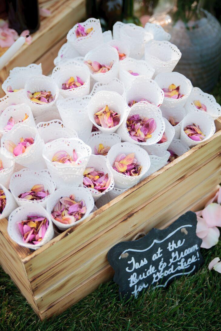 pink rose petal cones. Black Bedroom Furniture Sets. Home Design Ideas