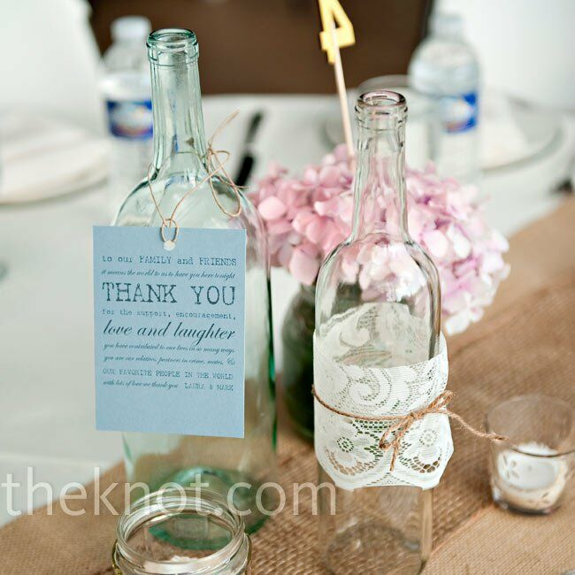 Recycled bottle centerpieces for Clear wine bottle centerpieces