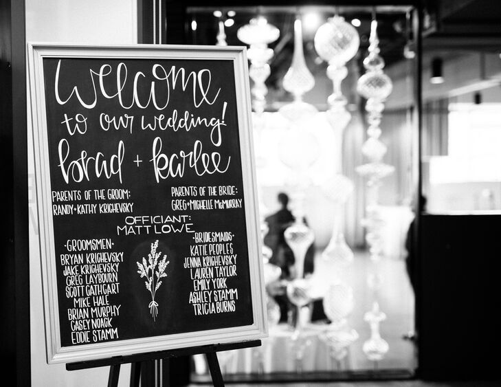 Welcome Chalkboard DIY Sign with Wedding Party