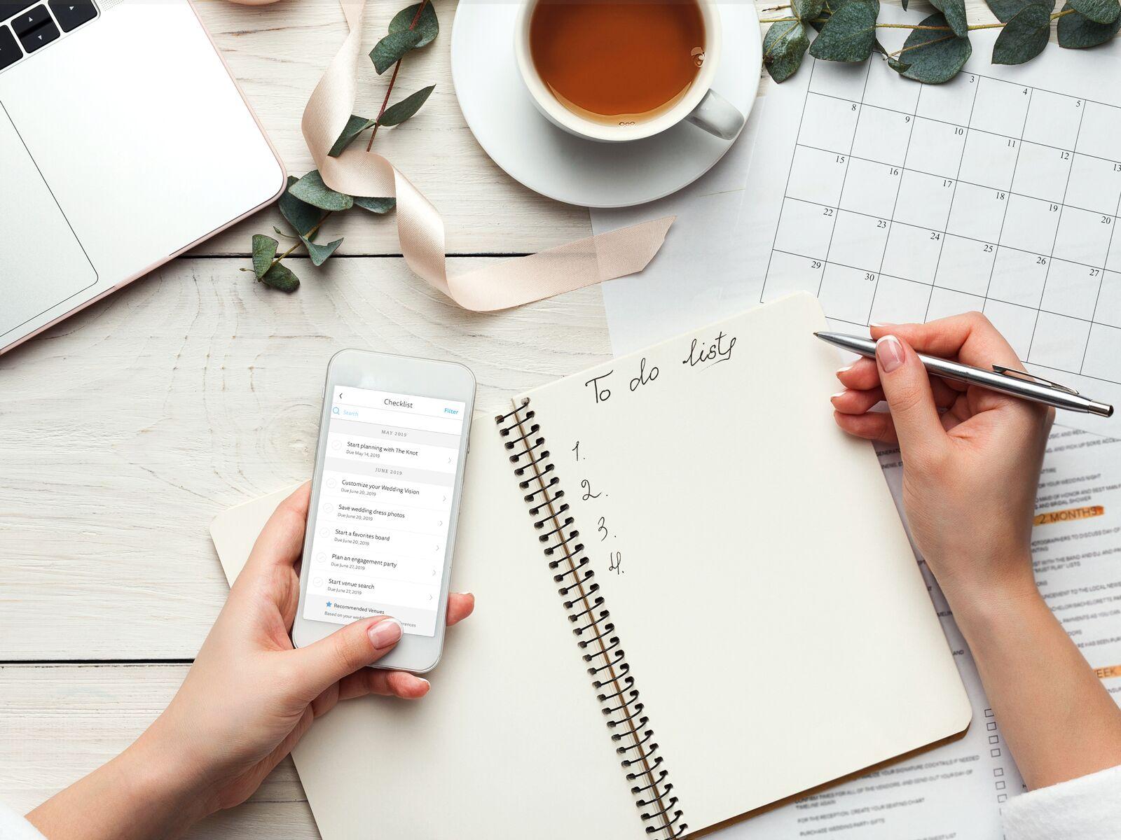 12 Month Wedding Calendar for Wedding Planning: Planning