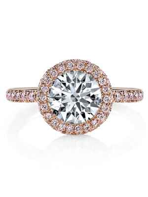 Jean Dousset rose gold engagement ring