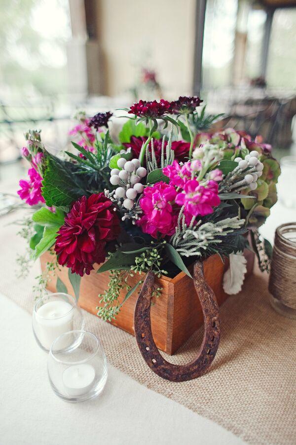 Dark Red Bridal Bouquet
