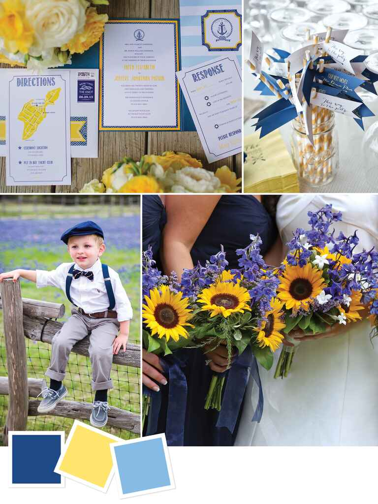 Color combo for a summer country wedding