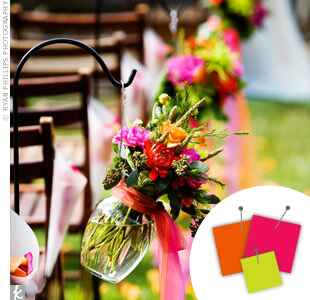 Wedding Color Combo: Hot Pink + Orange + Lime Green