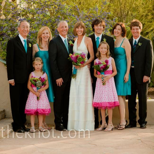Turquoise Fuchsia Wedding: Pink And Turquoise Bridal Party