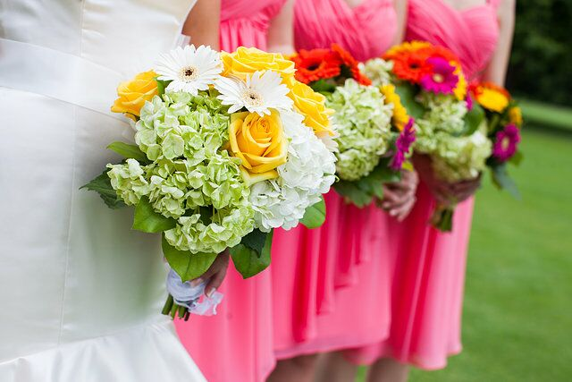Hydrangea, Gerbera Daisy and Rose Bouquet