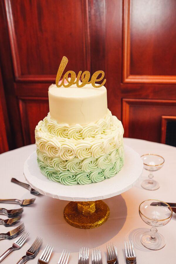 Mint Wedding Cakes + Desserts