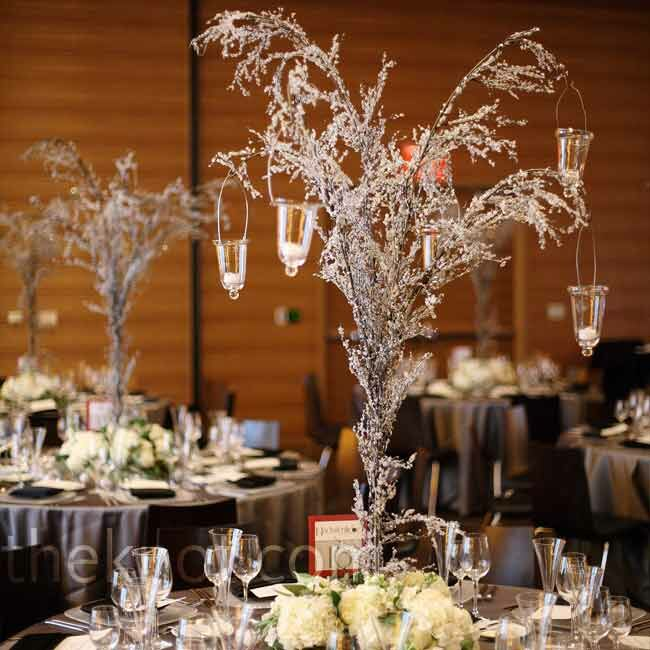 Icicle tree centerpieces