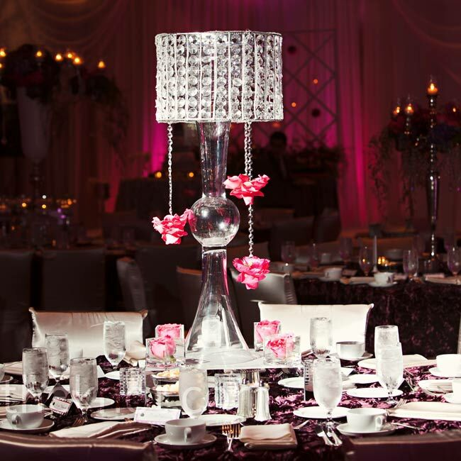 Modern crystal centerpieces