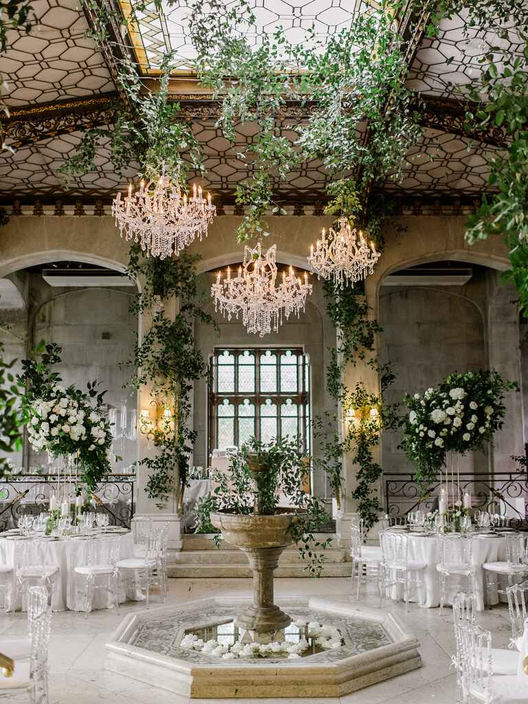 The Knot Dream Wedding 2017 Hempstead House reception venue
