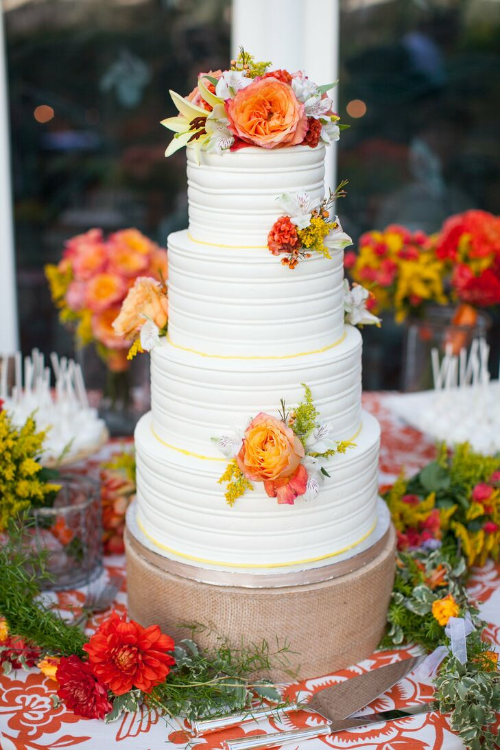 Decadent Fall Wedding Cake