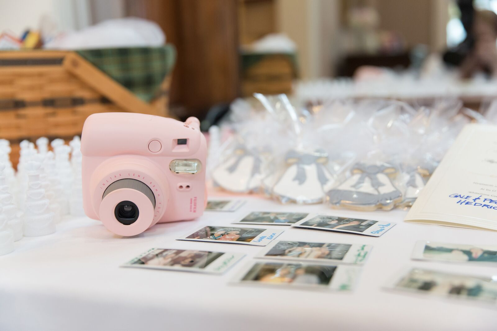 Pink Polaroid Guestbook Photos