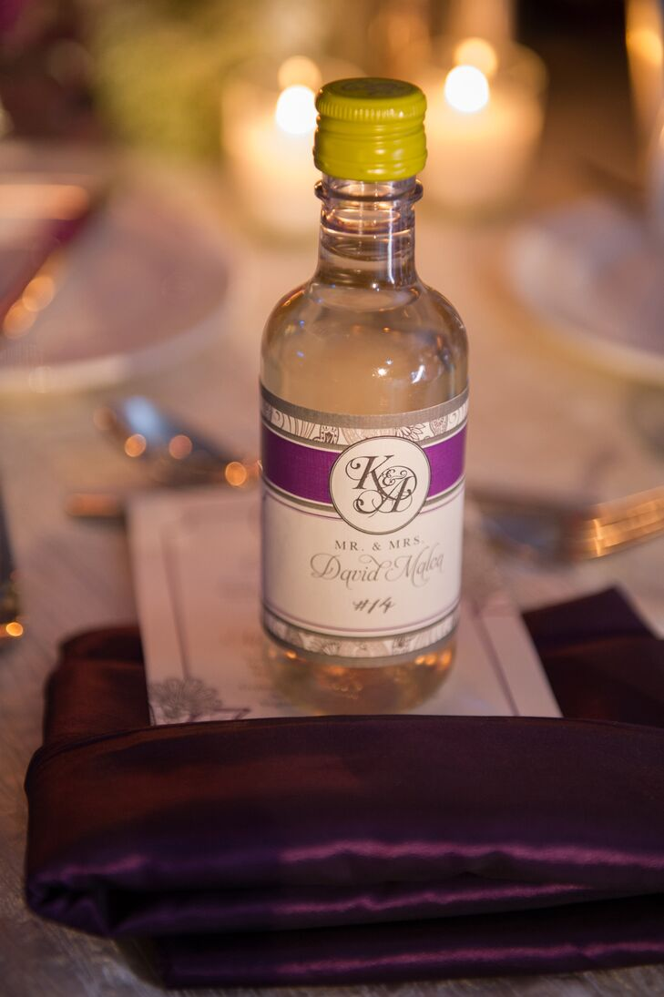 Miami Florida Wine Bottle Wedding Favors