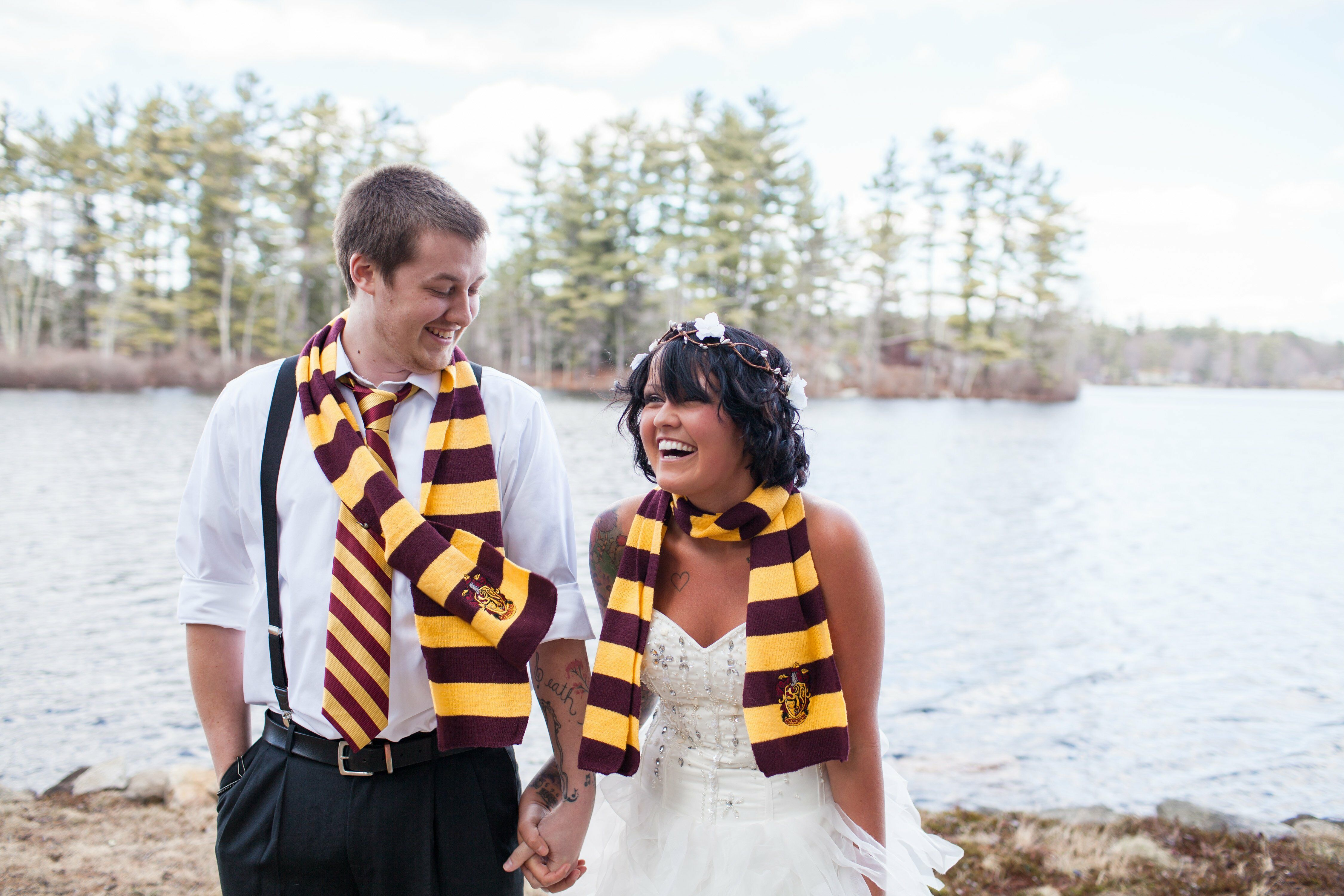 Unique wedding ideas non traditional wedding harry potter themed wedding in new hampshire junglespirit Choice Image
