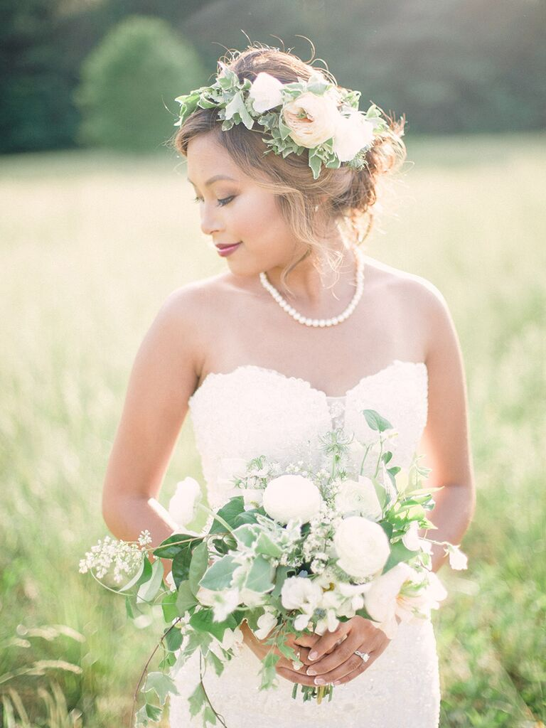 9 rules for accessorizing your wedding dress flower crown ombrellifo Choice Image