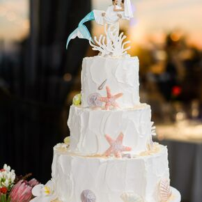 Beach wedding cakes junglespirit Choice Image
