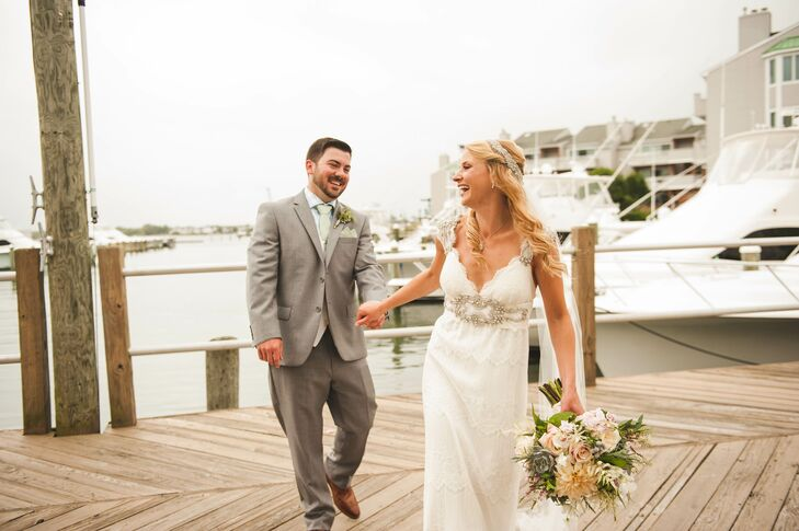 A Classic Whimsical Beach Wedding At Ocean Club Hotel In Cape May New Jersey