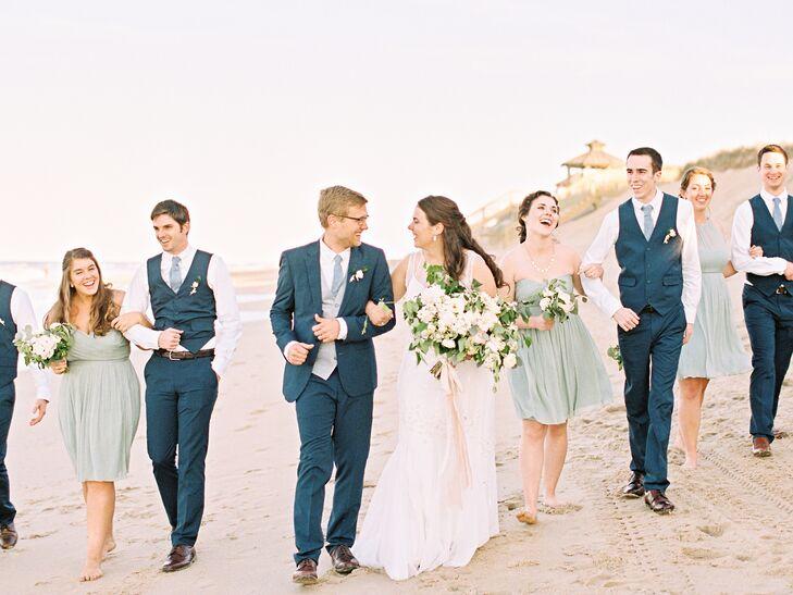 Dusty Shale J.Crew Bridesmaid Dresses