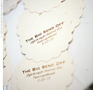 Wedding Exit Stationery