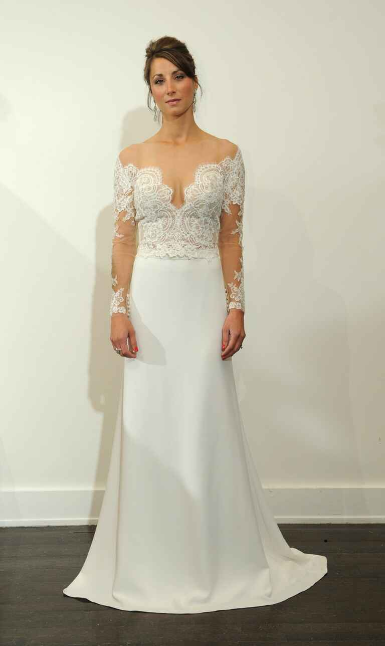 Allure bridals spring 2017 collection bridal fashion week for Allure long sleeve wedding dress