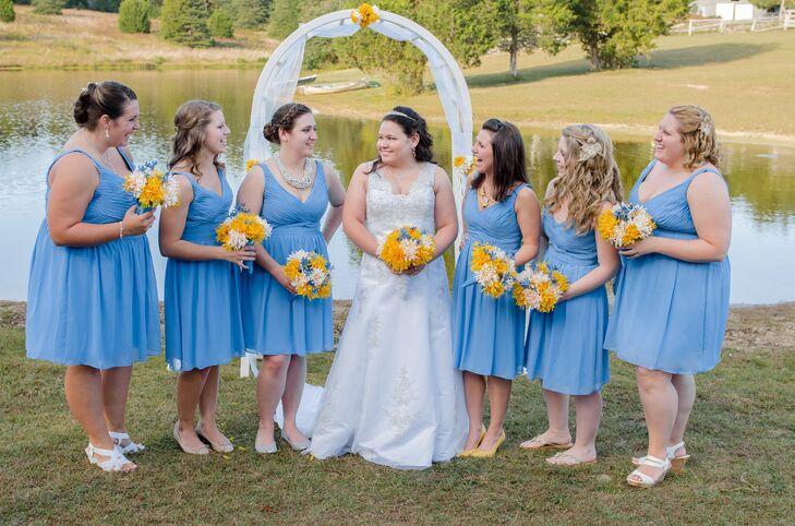 Cornflower Blue Bridesmaid Dresses_Flower Girl Dresses_dressesss