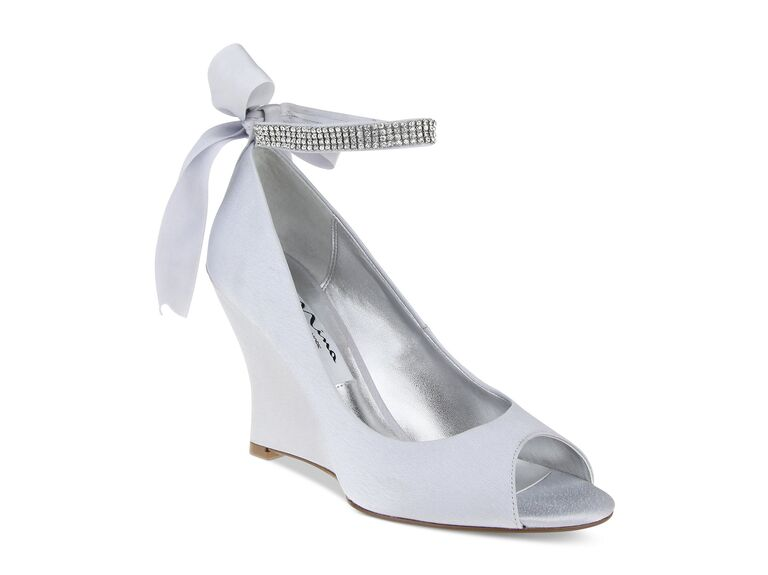 silver wedge wedding shoes 42 best wedding wedges you can buy now 7470