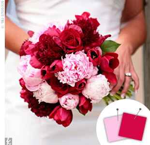 Wedding Color Combo: Light Pink + Fuchsia