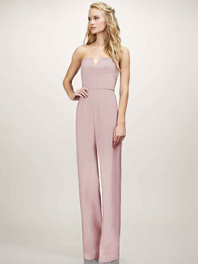 Theia Cara jumpsuit in blush pink