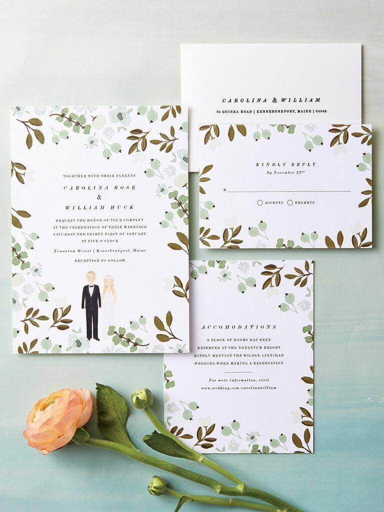 Ki kingsmill resort - Color Me Carla Garden Themed Wedding Invitations