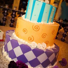 Whimsical Purple Wedding Cakes