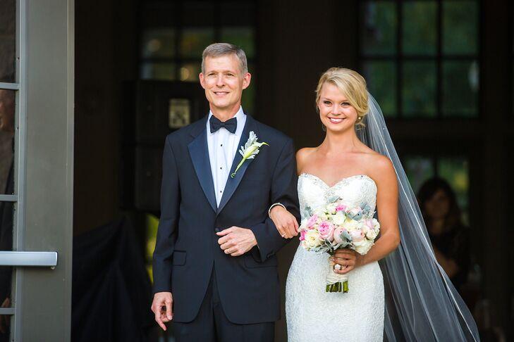 Strapless David Tutera Wedding Gown