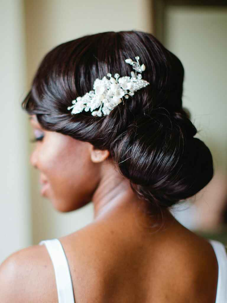 Wedding hairstyle romantic updo